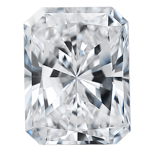 Radiant 6x4 mm Forever One Moissanite Gemstone