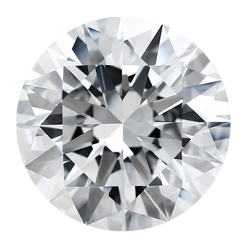 Round 4 mm Forever One Moissanite Gemstone