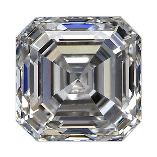 0.61 Carat Asscher Loose Diamond, E, VS1, Super Ideal, GIA Certified