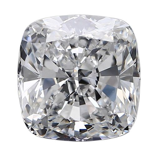 0.50 Carat Cushion Loose Diamond, D, VVS2, Ideal, GIA Certified
