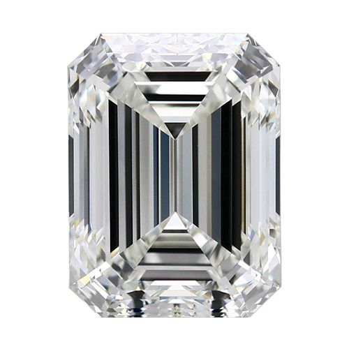 0.50 Carat Emerald Loose Diamond, F, VS2, Ideal, GIA Certified | Thumbnail