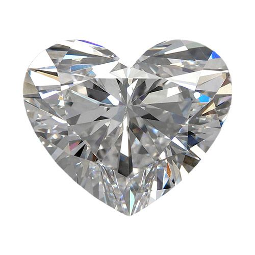 0.53 Carat Heart Loose Diamond, D, VVS2, Very Good, GIA Certified | Thumbnail