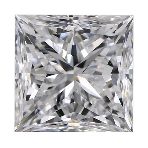 0.51 Carat Princess Loose Diamond, D, VVS2, Super Ideal, GIA Certified