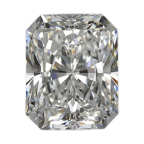 1.50 Carat Radiant Loose Diamond, I, SI1, Ideal, GIA Certified