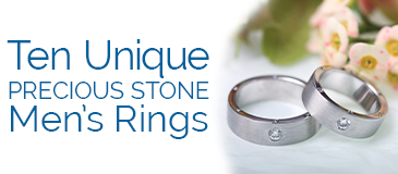 Ten Unique Precious Stone Men's Rings