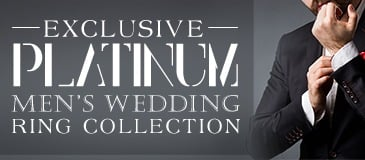 Exclusive Platinum Men's Wedding Ring Collection
