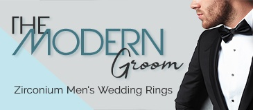 The Modern Groom: Zirconium Men's Wedding Rings