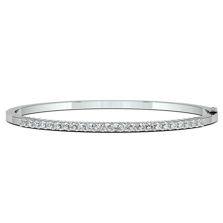 Diamond Bangle Bracelet in White Gold (1 1/2 ctw) | 03