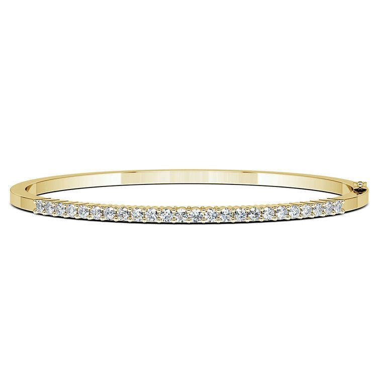 Diamond Bangle Bracelet in Yellow Gold (1 1/2 ctw)   03