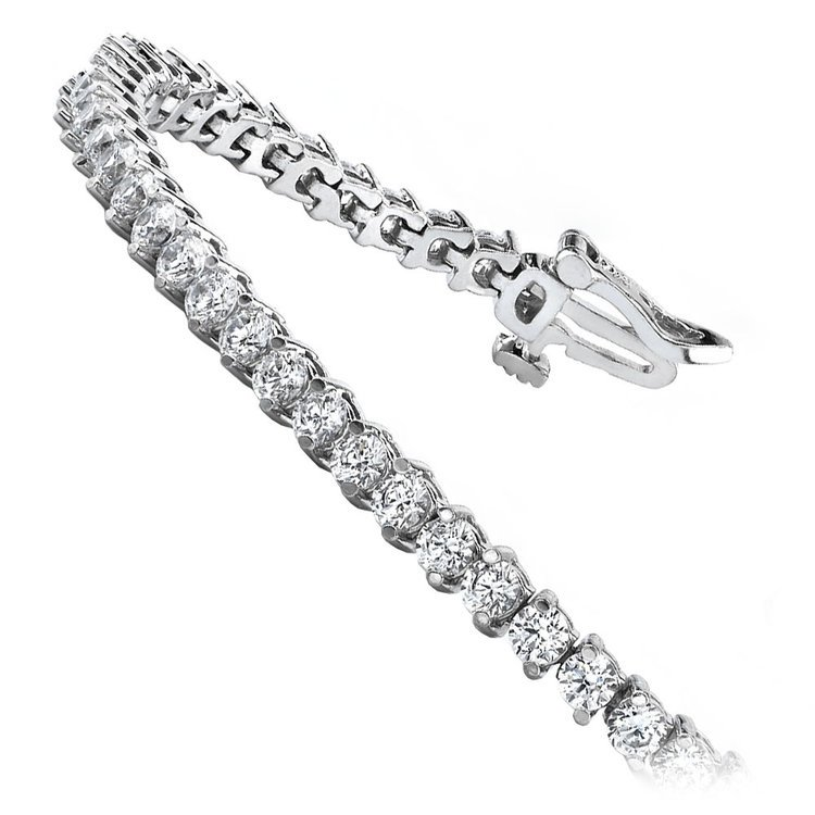 Diamond Illusion Bracelet in White Gold (1 1/2 ctw) | 02