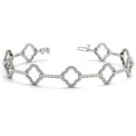 Abstract Diamond Bracelet in White Gold (7/8 ctw) | Thumbnail 01