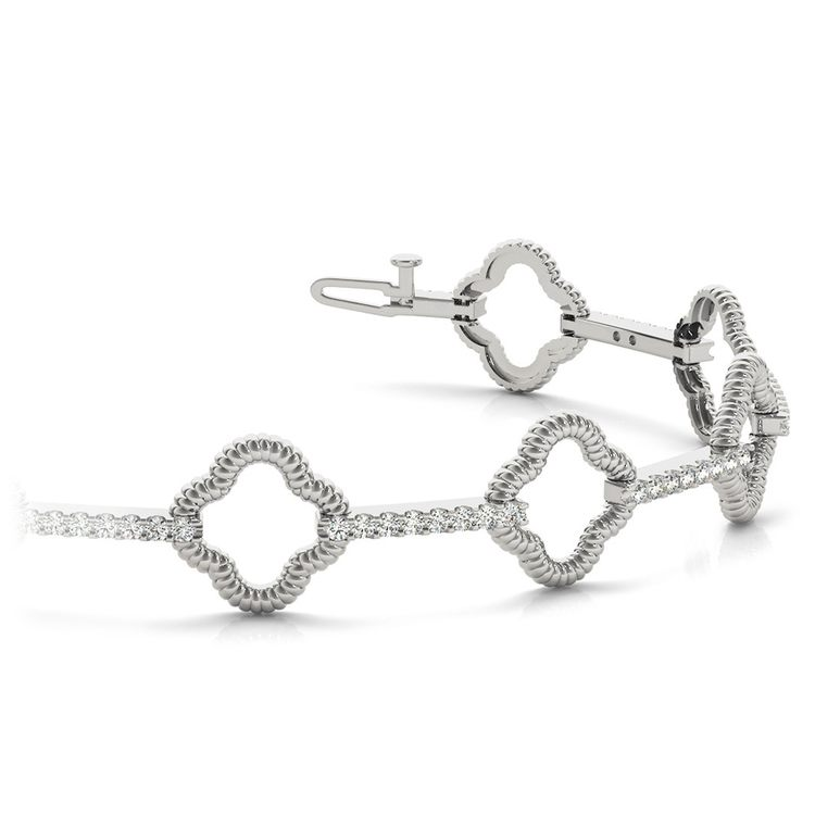 Abstract Diamond Bracelet in White Gold (7/8 ctw) | 01