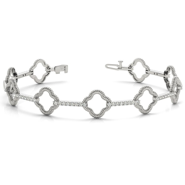 Abstract Diamond Bracelet in White Gold (7/8 ctw) | 03