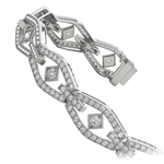Art Deco Diamond Bracelet in White Gold (3 ctw) | Thumbnail 01