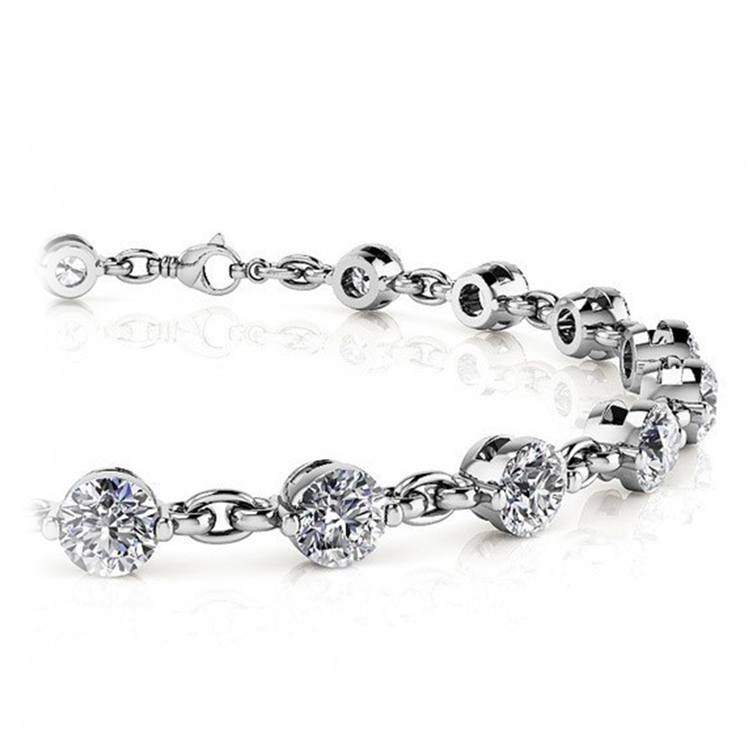 Link Diamond Bracelet in White Gold (7/8 ctw) | 01