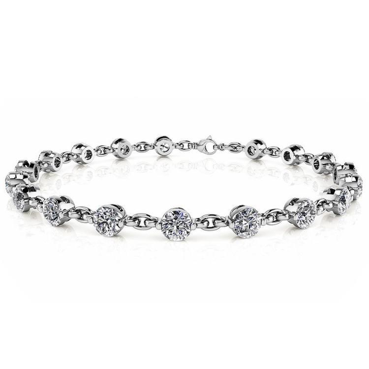 Link Diamond Bracelet in White Gold (7/8 ctw) | 03