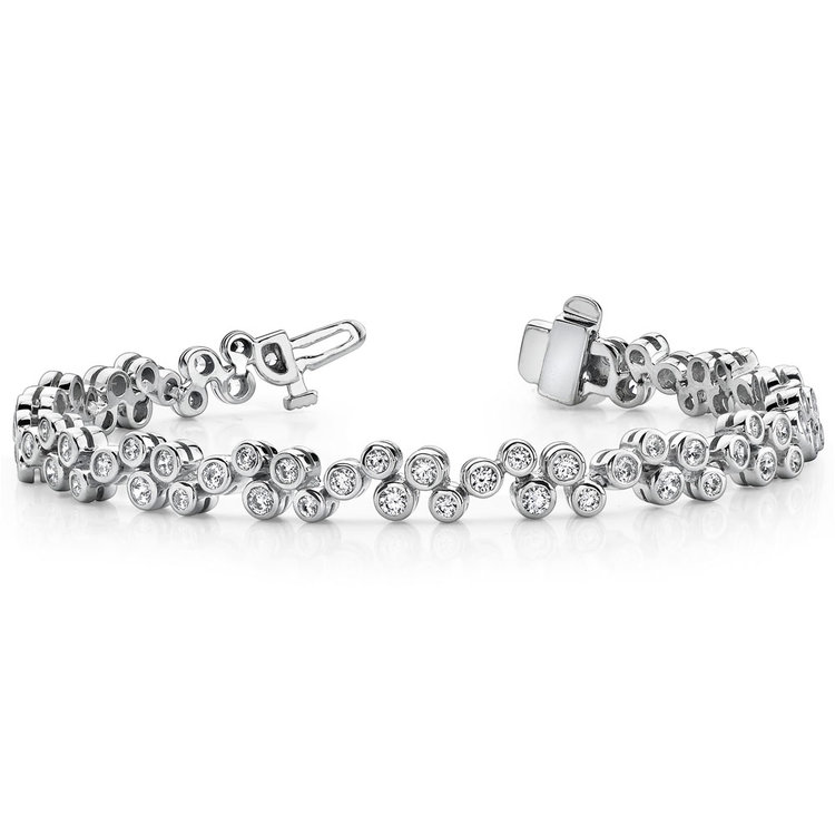 Bubble Diamond Bracelet in White Gold (3 ctw) | 03
