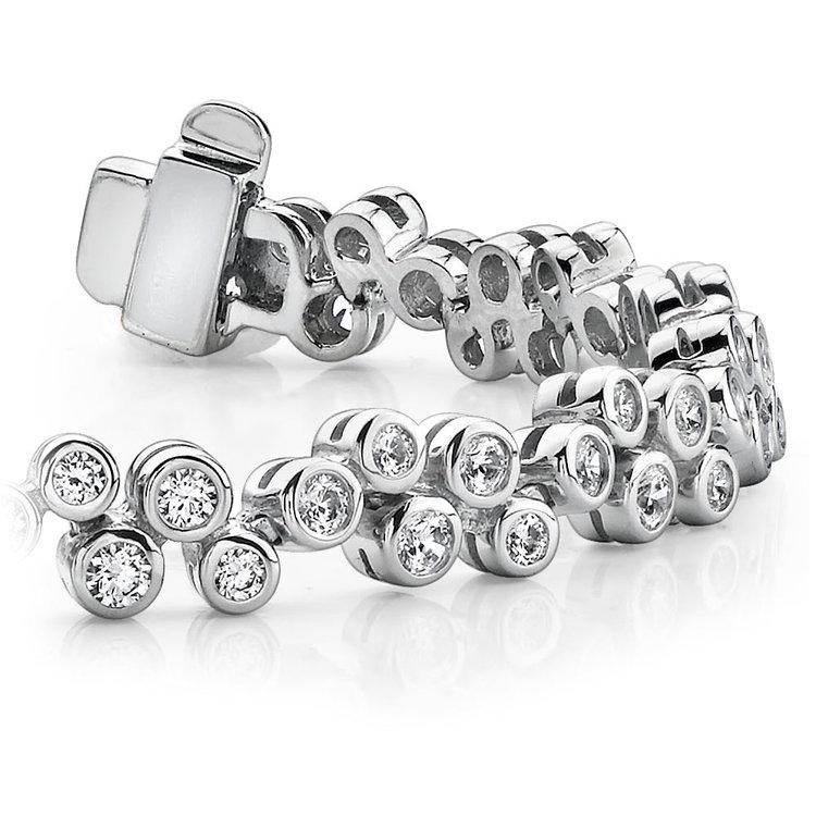 Bubble Diamond Bracelet in White Gold (3 ctw) | 01