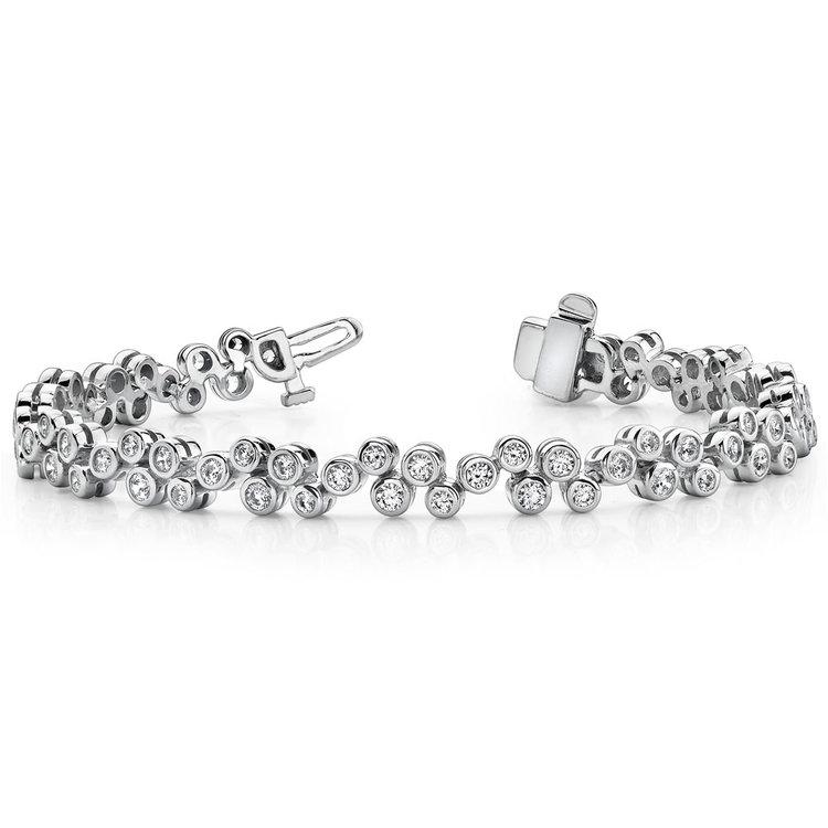 Bubble Diamond  Bracelet in White Gold (1 3/4 ctw) | 03