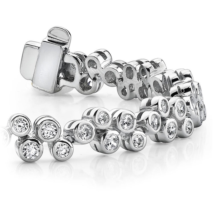 Bubble Diamond  Bracelet in White Gold (1 3/4 ctw) | 01