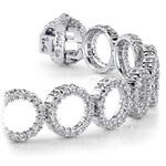 Circle Diamond Bracelet in White Gold (5 1/2 ctw) | Thumbnail 01