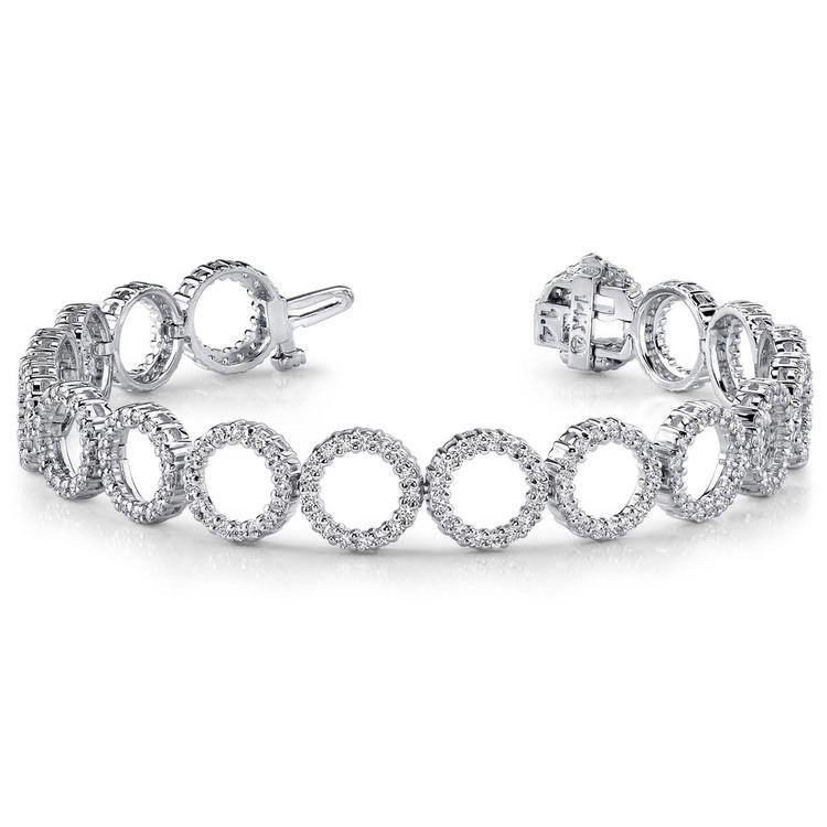 Circle Diamond Bracelet in White Gold (5 1/2 ctw) | 03
