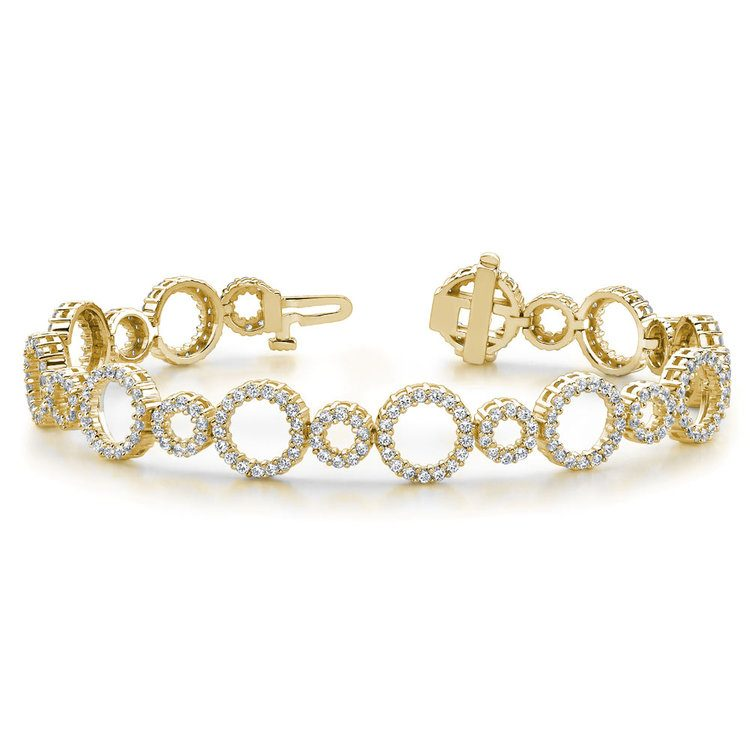 Circle Diamond Bracelet in Yellow Gold (4 ctw)  | 03