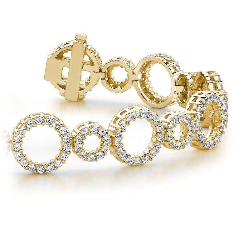 Circle Diamond Bracelet in Yellow Gold (4 ctw)  | 01