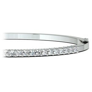 Diamond Bangle Bracelet in White Gold (2 ctw)