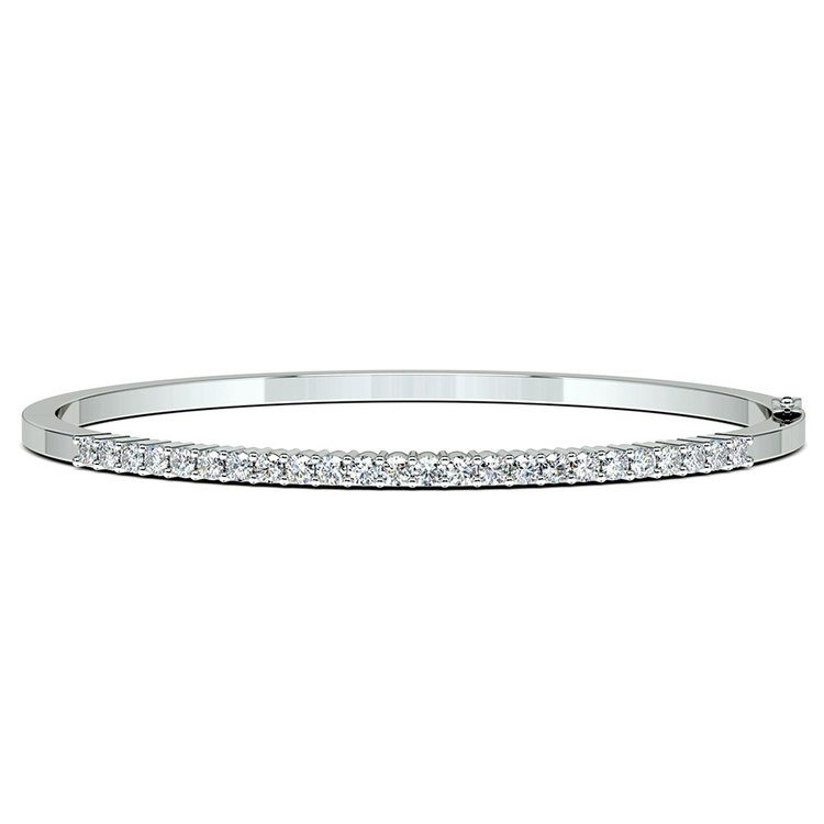 Diamond Bangle Bracelet in White Gold (2 ctw) | 03