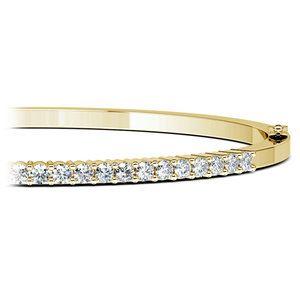 Diamond Bangle Bracelet In Yellow Gold 1 Ctw