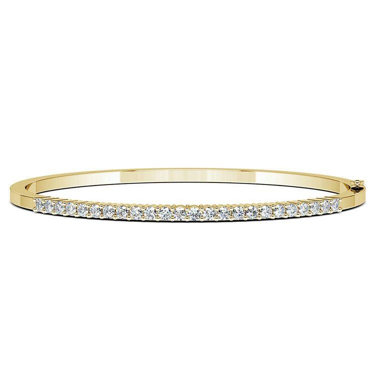 Diamond Bangle Bracelet in Yellow Gold (1 ctw) | 03