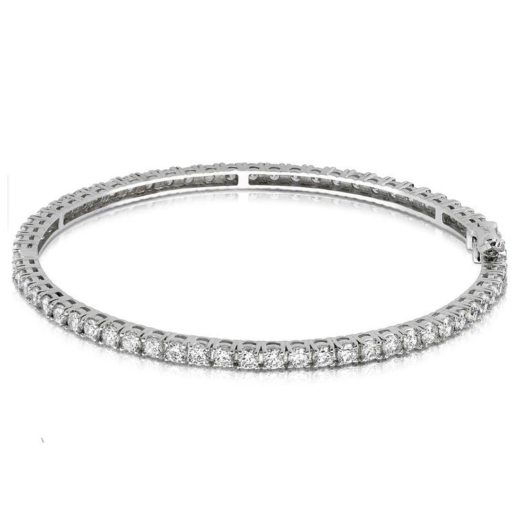 Diamond Eternity Bangle Bracelet in White Gold (5 1/2 ctw) | 03