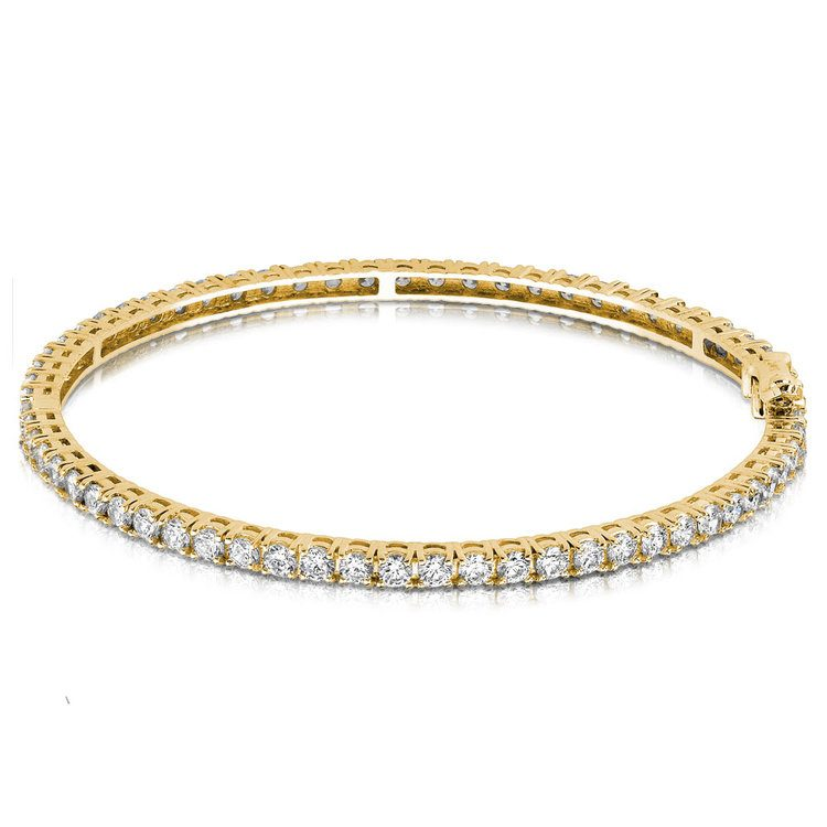 Diamond Eternity Bangle Bracelet in Yellow Gold (5 1/2 ctw) | 03