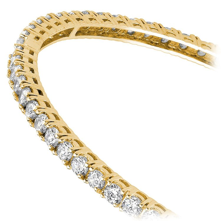 Diamond Eternity Bangle Bracelet in Yellow Gold (5 1/2 ctw) | 02