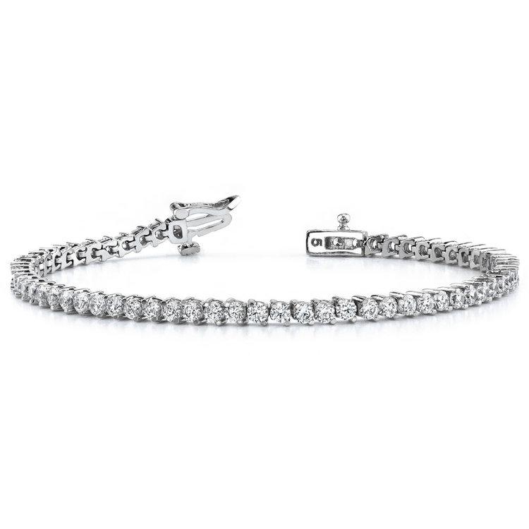 Diamond Illusion Bracelet in White Gold (1 ctw) | 03