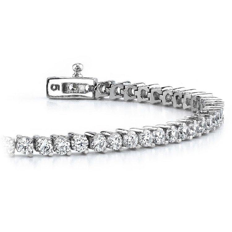Diamond Illusion Bracelet in White Gold (1 ctw) | 01
