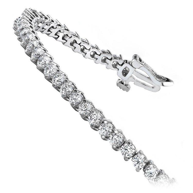 Diamond Illusion Bracelet in White Gold (1 ctw) | 02