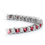 Diamond & Ruby Illusion Bracelet in White Gold | Thumbnail 01
