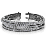 Five Row Diamond Bracelet in White Gold (10 ctw) | Thumbnail 01