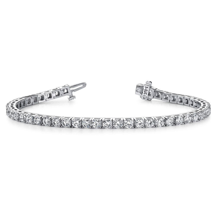 Classic Diamond Bracelet In White Gold (5 Carat) | 03