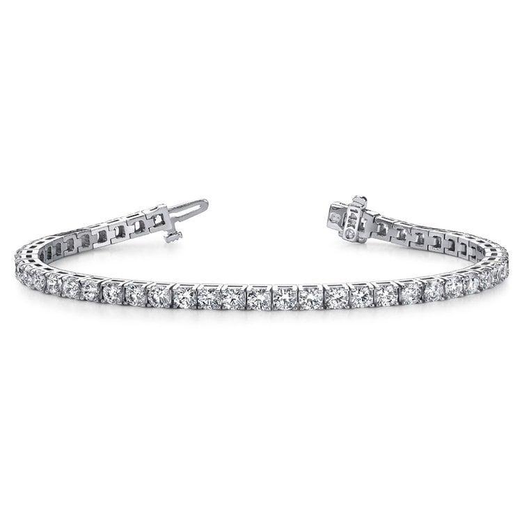 Four Prong Diamond Tennis Bracelet in White Gold (2 ctw) | 03