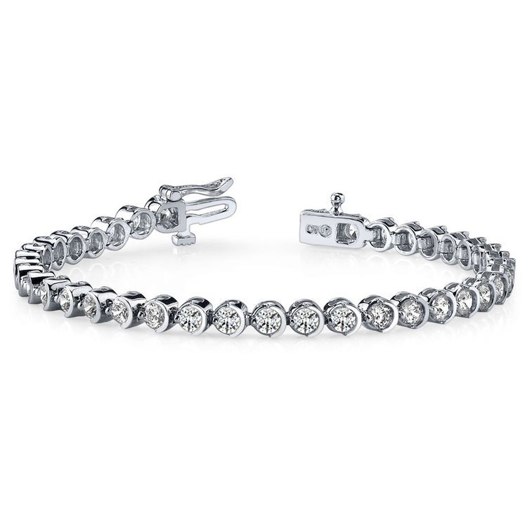Half Moon Diamond Bracelet in White Gold (5 ctw) | 03