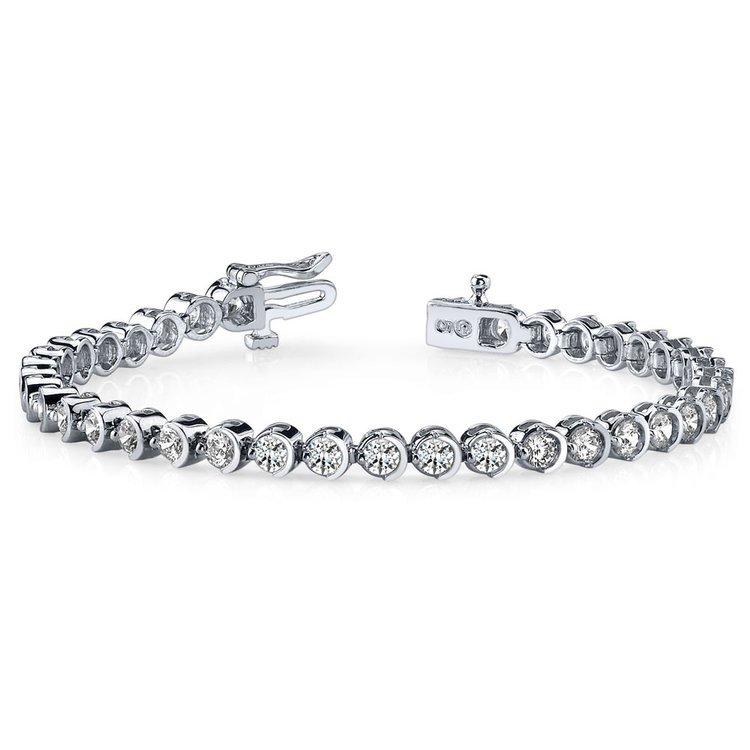 Half Moon Diamond Bracelet in White Gold (2 ctw) | 03