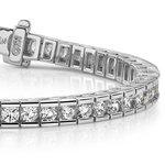 Round Channel Diamond Tennis Bracelet in White Gold (2 1/2 ctw) | Thumbnail 01
