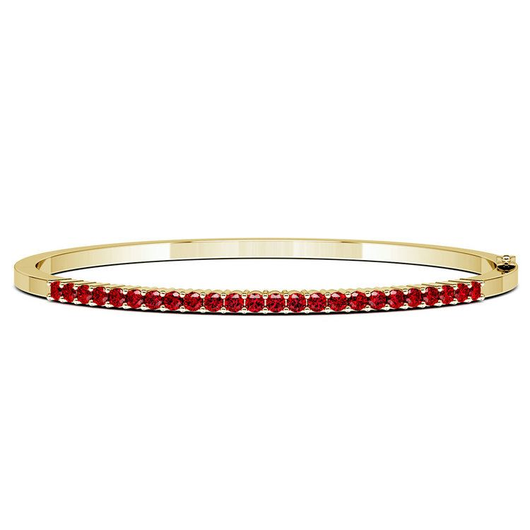 Ruby Bangle Bracelet in Yellow Gold | 03
