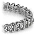 S-Link Diamond Bracelet in White Gold (5 ctw) | Thumbnail 01
