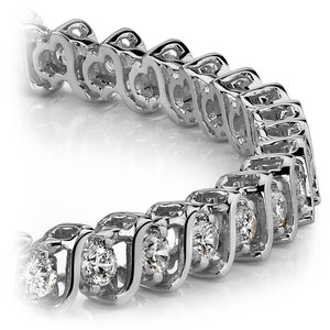 S-Link Diamond Bracelet in White Gold (5 ctw)