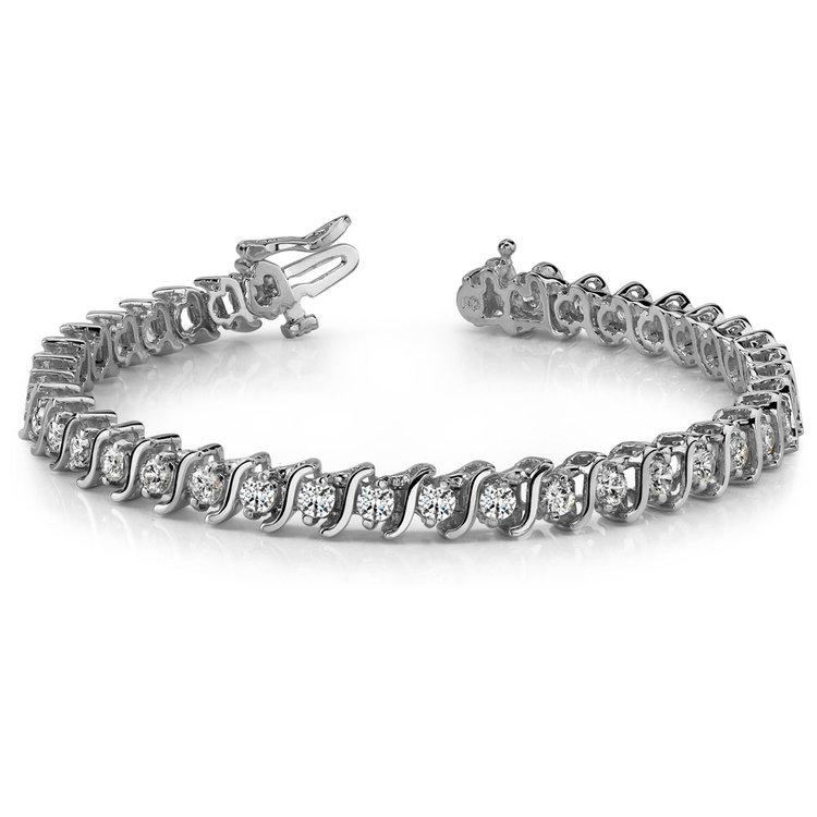 S-Link Diamond Bracelet in White Gold (5 ctw) | 03