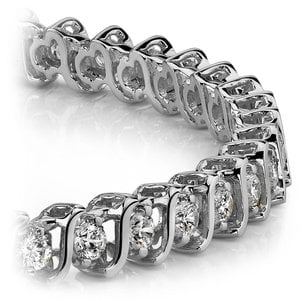 S-Link Diamond Bracelet in White Gold